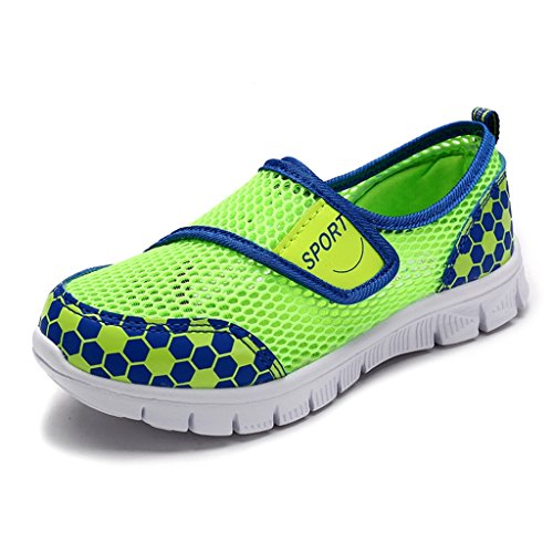 SITAILE Kinder Mesh Atmungsaktives Sneaker Sommer Sport Schuhe Lauflernschuhe Klettverschluss Turnschuhe Mädchen Jungen Grün