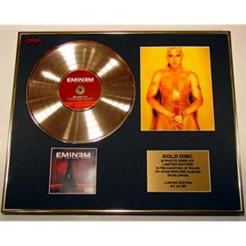 EMINEM/CD Disco de Oro/Disco & Foto Display/Edicion LTD/Certificato di autenticità/THE EMINEM SHOW