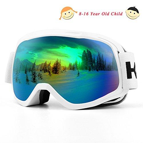 Skibrille, Over Glasses Snowboardbrillen für Männer, Frauen, Jugendliche oder Kinder - UV400...