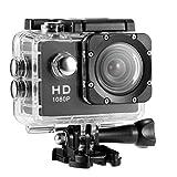 Action Camera Full HD 2.0 pollici 1080P 12MP Sport Camera Action Cam subacquea 30m/98ft con fotocamera 8PCS e accessori di montaggio, per immersioni/bicicletta/Arrampicata/Nuoto (Nero)