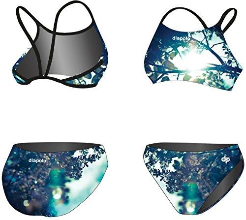 Diapolo Syringa Sport-Bikini Zweiteiler aus der Spring Kollektion für Schwimmen Synchronschwimmen Wasserball Thriathlon dünne trager