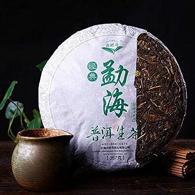Chine Yunnan gâteau au thé puerh 357g (0.787LB) cru puer Menghai nourriture verte bio thé Pu'er thé vert thé Puer thé chinois thé Pu er thé cru sheng cha nourriture saine thé Pu-erh vieux arbres thé Pu erh