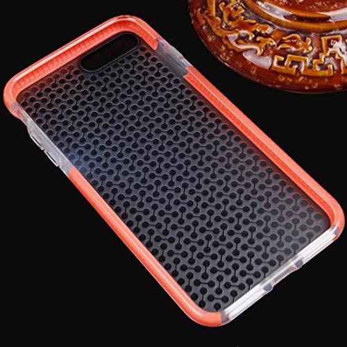 BING Für iPhone 7 Plus Dumbbell Texture Transparente TPU Schutzhülle BING ( Color : Blue ) Orange