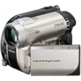 Sony - Handycam DCR-DVD150E - Camcorder - widescreen - 800 Kpix - optical zoom: 60 x - DVD-R (8cm), DVD-RW (8 cm), DVD RW (8cm), DVD R DL (8cm), flash card
