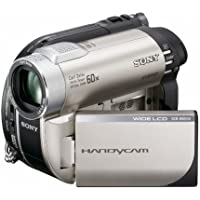 Sony - Handycam DCR-DVD150E - Camcorder - widescreen - 800 Kpix - optical zoom: 60 x - DVD-R (8cm), DVD-RW (8 cm), DVD RW (8cm), DVD R DL (8cm), flash card