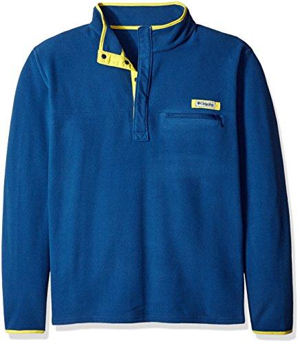Columbia Sportswear Herren Harborside Fleece Pullover (groß), Herren, Carbon/Mineral Yellow, 6X Columbia Sportswear-fleece-pullover