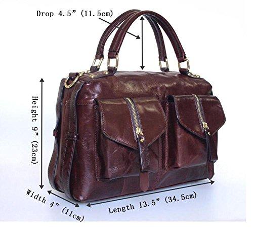 CHAOYANG-borsa in pelle borsa morbida portatile doppia tasca tracolla in pelle Ms. Four Seasons , brown Brown