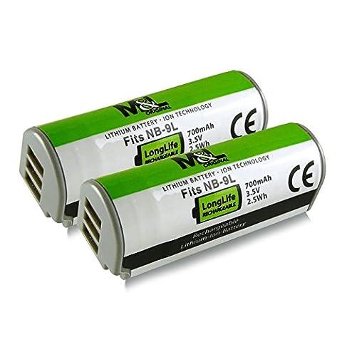 2x Akku / Batterie wie NB-9L für Canon IXUS 500 HS   510 HS   1000 HS   1100 HS - PowerShot ELPH 510 HS   ELPH 520 HS   ELPH 530 HS   PowerShot N   SD4500