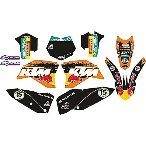 KTM - Kit de adhesivos de vinilo para Moto-x MX