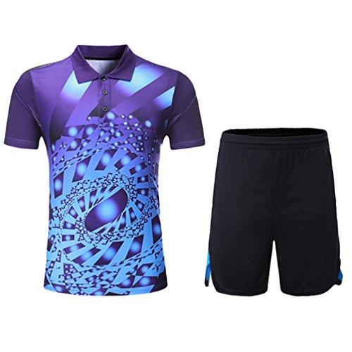 Kuncg Outdoor Sportswear Personalisierte Für Herren und Jungen Badminton Tragen Lässigen Lila L