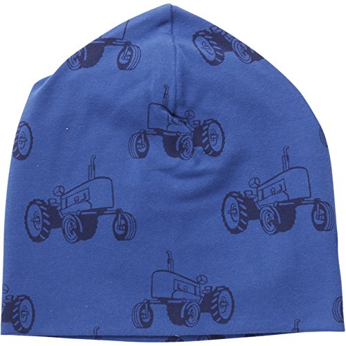 Fred'S World By Green Cotton Tractor Beanie Ensemble Bonnet, écharpe et Gant, Bleu (Blue Ocean 019404401), M Garçon