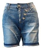 ZAC&ZOE Boyfriend Jeans Shorts Bermuda kurze Hose / Stretch / Stone-Used / B177 / 20170500026 (38 (M), Stone-Used-Blue)