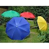 Strandschirm Sonnenschirm Gartenschirm Sonnenschutz Schirm Camping UV Schutz (200 cm, Grün)