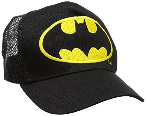 Batman Unisex Baseball Cap Logo Schwarz, One (Hero Kostüme Authentische Super)
