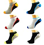 CLICKTOSTYLE 12 PAIR MENS COLOURED BREATHABLE QUALITY TRAINER LINER ANKLE SOCKS UK SIZE 6-11