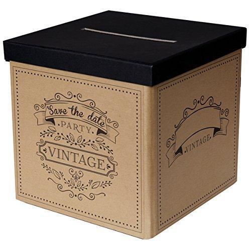 / Hochzeits-box in braun im Vintage Stil - ideal für Kuverts, Hochzeits-Karten & Geld-Geschenke zu Ihrer Hochzeit, Geburtstags-Umschläge, Sammel-Box (Geschenk Karte Boxen)