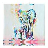 Wandgemälde,Pathonor 50cm*50cm Unframed Leinwanddrucke Modern Home Decor Wand Kunst Bild Aquarell Elefanten