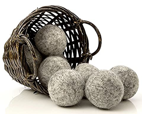 Dark Wool Dryer Balls, 8-Pack — Made For Drying Colors/Darks — Natural Fabric Softener — Ecofriendly & Organic — Reusable Dryer Sheets for Infants