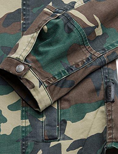 REPLAY Damen Hemd im Military-Stil camu