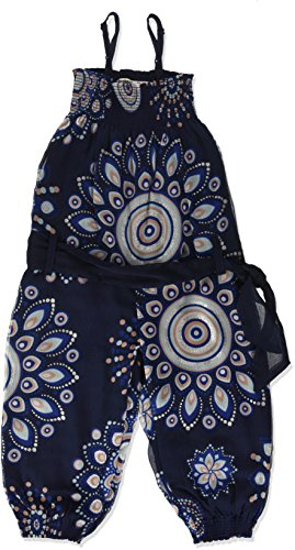 Desigual Mono_baiji, Pantalones de Peto para Niñas, Azul (Navy 5000), 128...