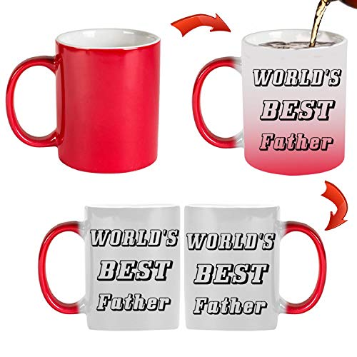 World's Best Father 11 oz Mug Inside The Color Cup Color Changing Cup, The Best Gift Cup, Birthday Present.Multiple Colors to Choose from