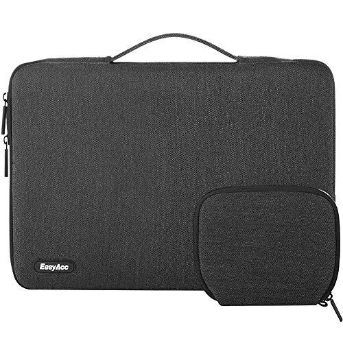 """EasyAcc 14-15,4 Zoll Laptop Tasche Sleeve Hülle mit Griffen und Zubehörtasche Tragbare Laptoptasche Schutzhülle für 14-15,4"""" (35,6-39,1 cm) Notebook/Ultrabook/MacBook/Netbook - Dunkelgrau"""