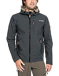 Twentyfour Herren Ski Funktions Leichte Jacke Finse mit Abnehmbarem Kunstfell