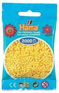DAN Import Hama Perlen 501-03 - Mini cuentas (2000 unidades), color amarillo