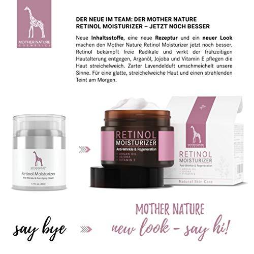 Retinol Crème – Mother Nature® | Anti-Aging | Feuchtigkeitsspender Gegen Trockene Haut & Altersanzeichen | Hautstraffung & Hautregeneration Für Pralle, Jugendliche Haut | Inklusive Hyaluronsäure - 2