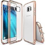 Funda Galaxy S7 Edge, Ringke [FUSION] Choque Absorcin TPU Parachoques [Choque Tecnologa Absorcin][Conviviente tapn antipolvo] para Samsung Galaxy S7 Edge - Rose Gold Crystal