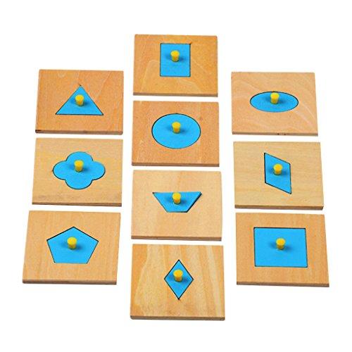 Blaue Holz Geometrische Figur Geformt Peg Puzzle Kleinkind Vorschulkinder Spielzeug