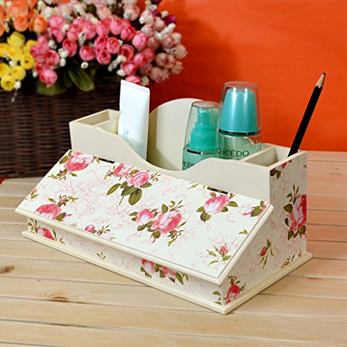 Cosmetic Holder Organizer Desktop Haut Schmuck Box Clamshell Regal Schmuck Holz Aufbewahrungsbox (Clamshell-box)