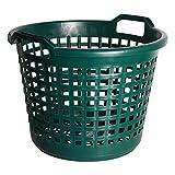 Fachhandel Plus Universalkorb Kunststoff rund 25 kg grün, Garten Laub Ernte Obst Kartoffel Korb