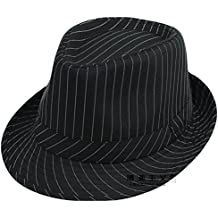 sombreros y gorras de moda/sombrero de caballero británico masculino/ Sir sombrero a rayas ocasionales