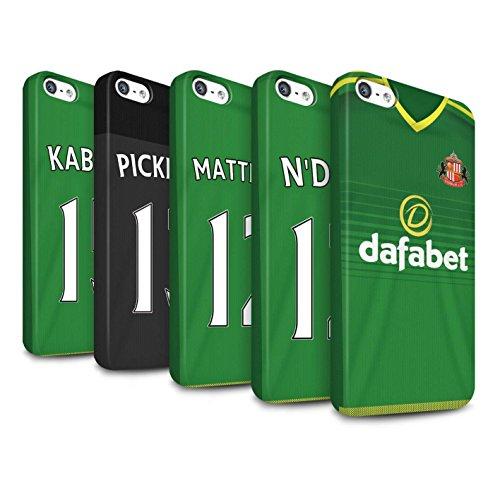 Offiziell Sunderland AFC Hülle / Matte Snap-On Case für Apple iPhone 5/5S / Pack 24pcs Muster / SAFC Trikot Away 15/16 Kollektion Pack 24pcs