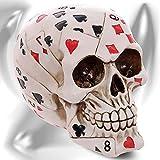 Teschio 'Poker Face' Teschio decorativo a forma da carte da poker