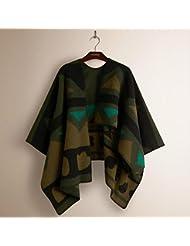 Mujeres moda Nepal estilo demasiado largas espesa MANTA bufanda abrigo chal Poncho cabo con borlas acogedor imitación Cachemira 130 * 128cm