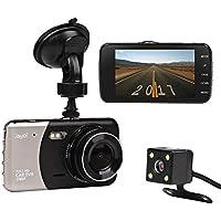 Caméra de Voiture, JC Beauty Dash Cam Embarquée 2 Lentilles FULL HD 1080P DVR 170°Grand Angle, 24 heures de surveillance, Capteur-G, Enregistrement en Boucle, Détection de Mouvement(3 Ans de Garantie)
