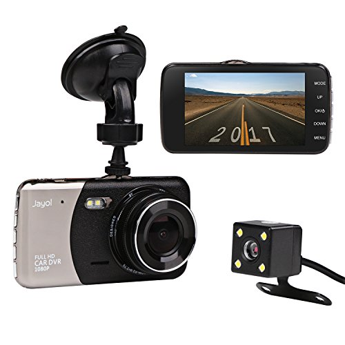 Dvr-auto (Auto Kamera, JC Beauty Dashcam 2 Lens FULL HD 1080P DVR mit 170° Weitwinkel, 4.0