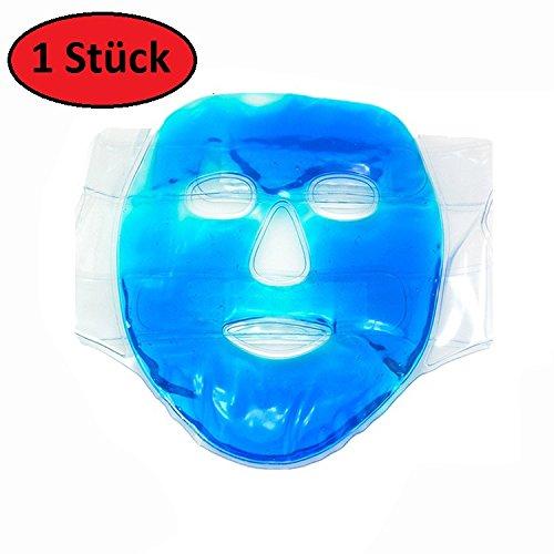 AGIA TEX Gel-Gesichtsmaske Augenmaske Entspannungs-Maske kühlend wärmend gegen Falten...