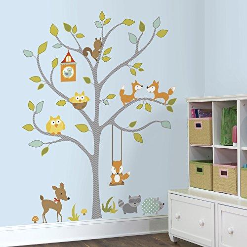 RoomMates 54333 RM - Dekosticker Waldtiere auf dem Baum - Wandtattoos Boy Disney