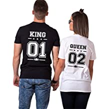 Pareja Camisetas King Shirts de Manga Corta T-Shirt 100% Algodón Impresión 01 2