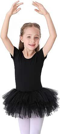 Bezioner Children Ballet Tutu Leotard Girls Cotton Dance Skirts Costumes Dress Up Outfit