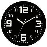 Reloj de pared silencioso - Diámetro 30 cm - Color NEGRO