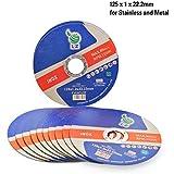 Disques à Tronçonner le Métal 125mm x 1mm x 22.2mm LZ – Lot de 10, pour broyeur d'angle, ULTRA MINCE, DURABLE, RPM 12200, 80M/S de LZ