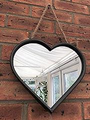 Idea Regalo - Homes on Trend Stile di squallido industriale del grande del cuore dello specchio del metallo dello specchio a forma di cuore