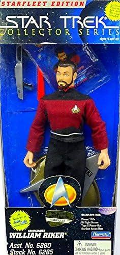PlayMates 'Star Trek 9 inch Figurine Commander William Riker en Star Trek Star Fleet édition | Sale Online