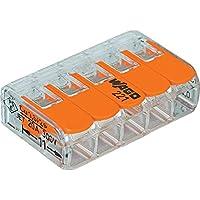Wago 221-415 25 Stück  Verbindungsklemme 5 Leiter mit Betätigungshebel