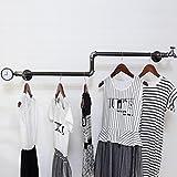 XZG Kreative Garderobe, Eisen-Kleiderständer-Retro Entwurfs-Schließfach-Raum-Kleidungs-Speicher-Schlafzimmer-Wohnzimmer-Regenschirm-Stand-Kleiderständer-Ausstellungsstand 120 * 25CM Bekleidungsgeschäft ( Farbe : A )