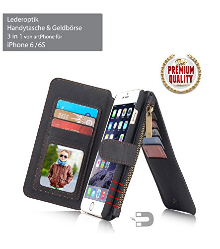 96cfa1495572bd artPhone Leather Look (PU Leather) Wallet Case for iPhone X/8/7/6S/6/6 Plus/6S  Plus/7 Plus/8 Plus Multifunctional 3 in 1 -Wallet -Card Holder -Mobile Case  ...